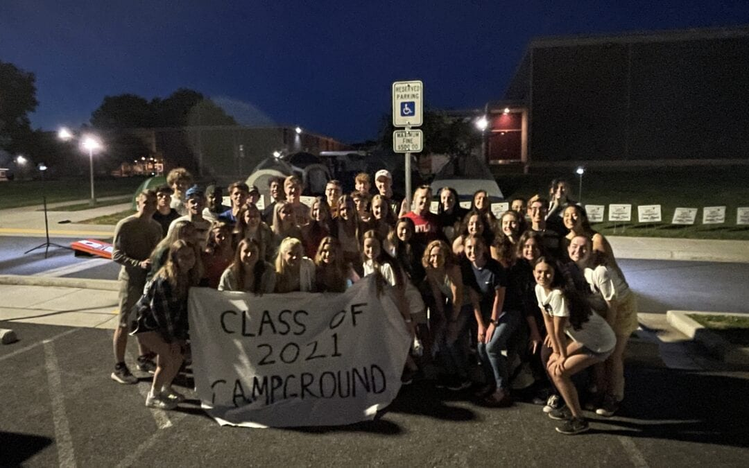 BHS Senior Class Camp out/Prank Thwarted