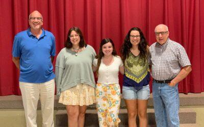 Pleasant Valley Ruritan presents three scholarship winners